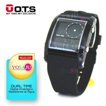 Relojes Ots Deportivos Led Digital Dual Time Unisex