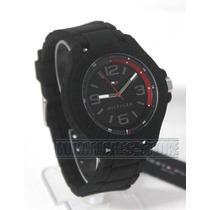 Reloj Tommy Hilfiger 1790944 Negro Silicona Para Caballero