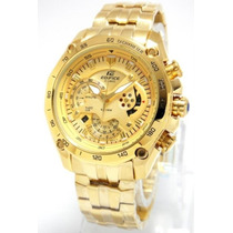 Reloj Casio Edifice Dorado Ef-550fg Sellado Original 2015