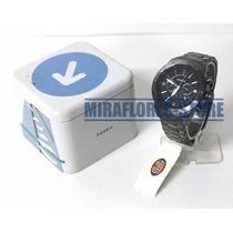 Reloj Fossil Bq1726 Silver Logan Blue Dial Para Caballero