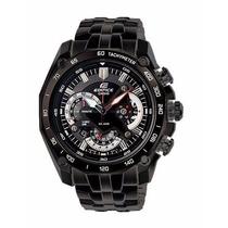 Reloj Casio Edifice Ef-550bk-1av Nuevo En Caja