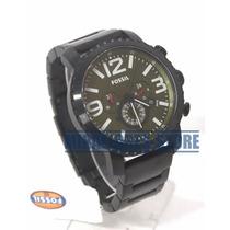 Reloj Fossil Bq2012 De Acero Negro Con Fecha Para Caballero