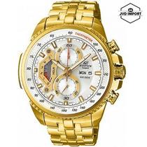 Reloj Casio Edifice Dorado Ef-558fg-7av - 100% Original