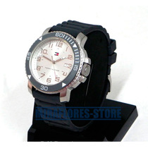 Reloj Tommy Hilfiger 1790823 De Silicona Gris De Caballero