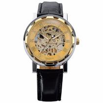 Reloj Winner Pmw029 Movimiento Mécanico Acero Nuevo En Caja