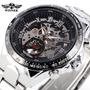 Reloj Winner Pmw107 Movimiento Mécanico Acero Nuevo En Caja