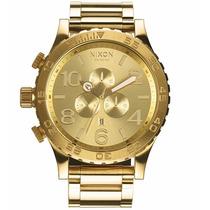 Reloj Nixon A083-502 The Chrono 51-30 Dorado Nuevo En Caja