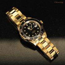Invicta Pro Diver Oro Reloj Hombre Padre Regalo Quartz Subma