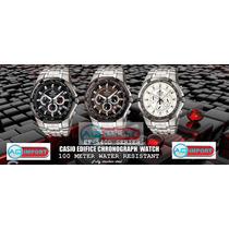Reloj Casio Ediffice 539d 540d Nuevo Blanco