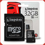 Memoria Micro Sd 32 Gb Clase 10 Kingston Smartphone Camara