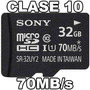 Memoria Micro Sd Sony 32gb Clase 10 70 Mb/s Con Tienda Nuev