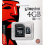 Micro Sd 4gb Kingston Selladas P/ Celulares,n95,x10,x8, S2