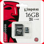 Memoria Micro Sd Hc 16 Gb Kingston Original Sellada Nueva