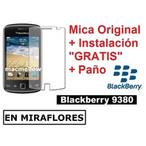 Lamina Original + Instalacion + Paño Blackberry 9380 Curve