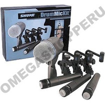Shure Dmk57-52 Set 4 Microfonos Sm57 Beta52a +3 Clamps Nuevo