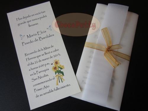 Tarjetas para invitación a misa de difuntos para imprimir - Imagui