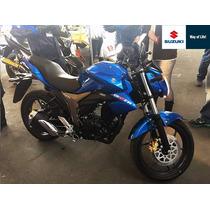 Suzuki Gixxer Azul Y Negra