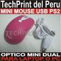 Mouse Mini Optico Usb Ps2 Color Morado Laptop Pc Navidad