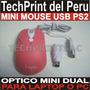 Mouse Mini Optico Usb Ps2 Color Ocre Laptop Pc Navidad