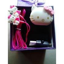 Hello Kitty Mp3 + Audifonos Kitty Kawaii