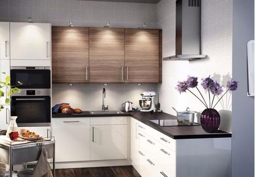 Cocina con granito for Reposteros de cocina en madera modernos