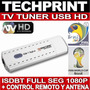 Sintonizador Tv Tuner Usb Digital Full Seg Hd Mundial Brasil