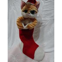 Gato Con Bota De Navidad