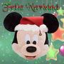 Cojines De Mickey Y Minnie Navideños