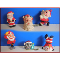 Dante42 Lote 06 Papanoel Muñecos Miniaturas Navidad