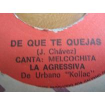 Melcochita A Comer Chicharron / De Que Te Quejas 45rpm Salsa