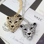 Subasta Collar Cadena Modelo Cabesa De Leopardo Dorado
