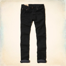 Jeans Hollister By Abercrombie Skinny Negro Talla 34 X 32