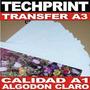 Papel Transfer A3 120 Gr 05 Hojas Polofoto Algodon Claro