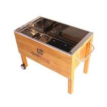Oferta Caja China Mediana + Parrilla Grillcorp Acero Inox