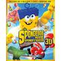 Blu Ray Bob Esponja: Un Héroe Fuera Del Agua 3d-2d - Stock