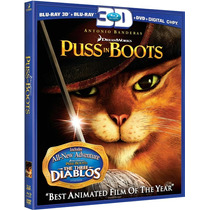 El Gato Con Botas Blu-ray 3d + Bluray + Dvd Original