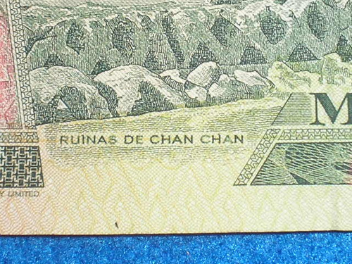 Peru Billete Antiguo De 1000 Intis-28 De Junio De 1988