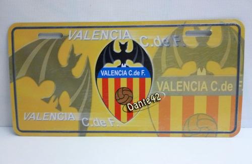 Placa Auto Valencia C. De F. Club De Futbol De España
