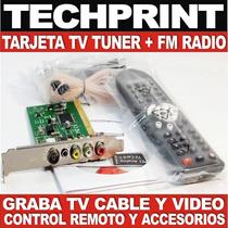 Tarjeta Tv Tuner Pci Capturador Fm Radio Control Remoto Win7