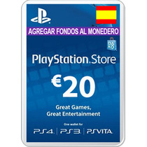 Playstation Network Card 20 Euros Ps3 Ps4 Psn Card España