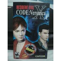 Brochure Panfleto Ps2 Resident Evil X Code Veronica Cuaderno