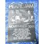 Poster Pearl Jam Gira Latinoamerica 2011