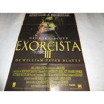 Poster Original De La Pelicula El Exorcista 3