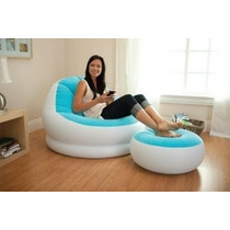 Sofa Puff Inflable Intex Por 2 Piezas