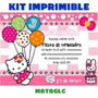 Kit Imprimible Tarjetas Invitaciones Hello Kitty Cajas Marco