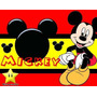 Kit Imprimible Mickey Rojo Y Negro Tarjetas + Candy Bar