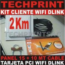 Kit Captura Wifi 2 Km Cliente Internet Gratis Dlink Dwa-510