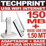 Receptor Usb Wifi Internet 150 Mb + Base + Extension 1.50 Mt