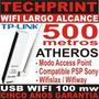 Tarjeta Usb Wifi Largo Alcance 500 Mt 54 Mb Internet Gratis