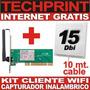 Kit Atheros Cliente Wifi Captura Internet Gratis Inalambrico